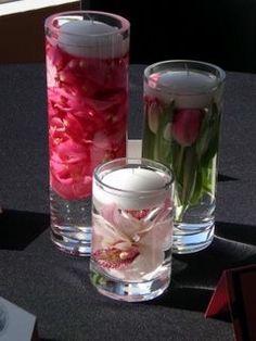 Pink DIY Wedding Center Piece