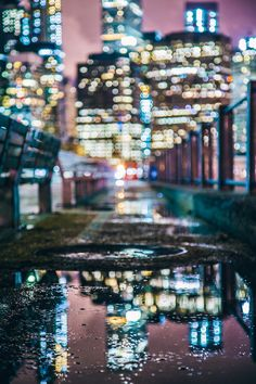 #city #reflection #bokeh by Karl-Shakur