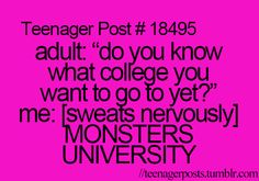hahhaha. was nerve racking when the adults start asking this and you didn't have the answer yet