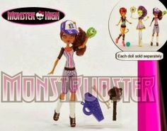 Sports themed Monster High! Who's that new character in the small picture?
