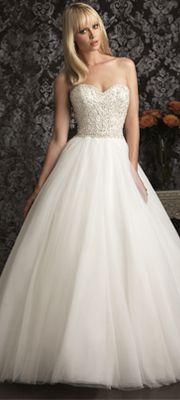 2013 Allure Bridal - Ivory & Silver English Net Swarvoski Crystal Wedding Gown