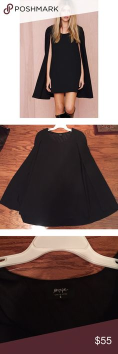 Cape dress Size small. NWOT. Never worn. Nasty Gal Dresses