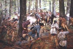 On This Day in History, October the Battle of Kings Mountain turns the tide in the southern campaign of the American Revolution after a string of defeats in previous years. American Revolutionary War, American War, Early American, American History, Military Art, Military History, Military Uniforms, Military Force, Battle Of Kings Mountain