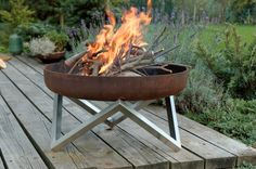 Steel Fire Pit YANARTAS - Contemporary Design by ArpeStudio on Etsy