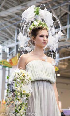 Closeup of Bridal Headpiece