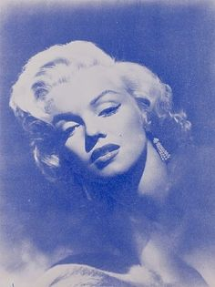 Russell Young, Marilyn Glamour (White + Crow Blue)
