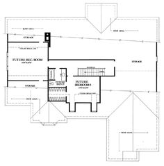 Second Floor Plan of Cottage   Country   Farmhouse  Traditional   House Plan 86314