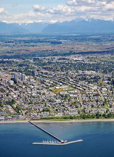 Metro Vancouver Aerial Photography of White Rock Ocean Views, North Shore, Aerial Photography, Vancouver, City Photo, River, Mountains, Rock, Craft