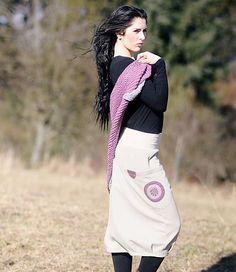byCaldero / Béžová bavlněná sukně