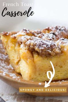 Make Ahead French Toast, Easy To Make Breakfast, French Toast Bake, French Toast Casserole, Breakfast Bread Recipes, 9x13 Baking Dish, Piece Of Bread, Slow Cooker Recipes, Board