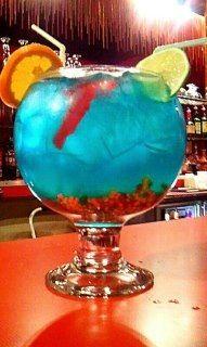 Glass cocktail fish bowl 92oz bar drinkstuff for Fish bowl drink tipsy bartender