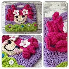 Crochet boutique LaLaLoopsy Handbag purse 100 by CupCakeCutiesshop, $25.00