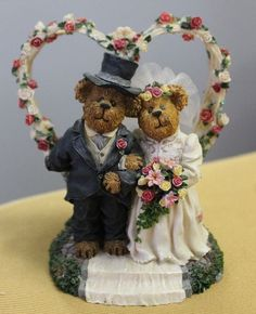 Boyds Bears - Doug and Jill...A Day to Remember - wedding, cake topper, bride in Collectibles, Decorative Collectibles, Decorative Collectible Brands | eBay