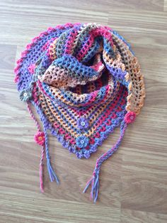 Road trip crochet scarf. Really enjoyable to make. Free pattern can be found here. http://zootyowlcards.blogspot.co.uk/2014/06/road-trip-scarves-pattern.html?m=1