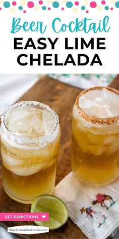 A chelada is a quick beer cocktail (or cerveza preparada) made with ice, lime, and salt. #drink #cocktail #beercocktail #limechelada #delicious #latinrecipes #mexican #mexicanrecipe #muybueno | muybuenocookbook.com @muybueno Summer Drink Recipes, Drinks Alcohol Recipes, Cocktail Recipes, Bueno Recipes, Mexican Beer, Refreshing Summer Drinks, Easy Cocktails, Latest Recipe, Latin Food
