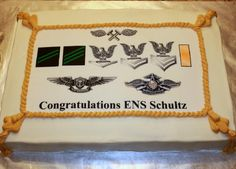 navy commissioning officer cake - Google Search