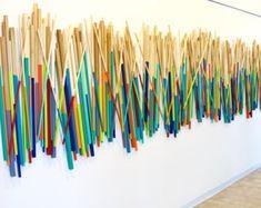 Wood Stick Art 3d Wall Art Wood Wall por RosemaryPierceArt
