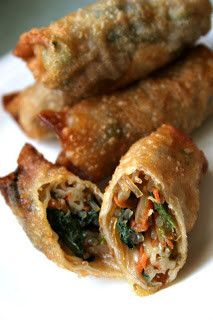 These vegetarian spring rolls are worth the time it takes to make. Pro tip: you'll want to prep a double batch! Vegetarian Cooking, Vegetarian Recipes, Cooking Recipes, Healthy Recipes, Healthy Cooking, Diet Recipes, Smoothie Recipes, Delicious Recipes, Vegan Foods