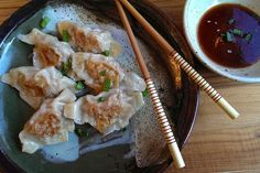 Pot Stickers - these are DELISH, but A-L-O-T of work not to mention clean up. Does put the pot stickers at Chinese restaurants to shame. I must say.