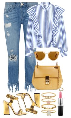 """""""Untitled #687"""" by iamsamball on Polyvore featuring 3x1, Gucci, Chloé, Draper James and Accessorize"""