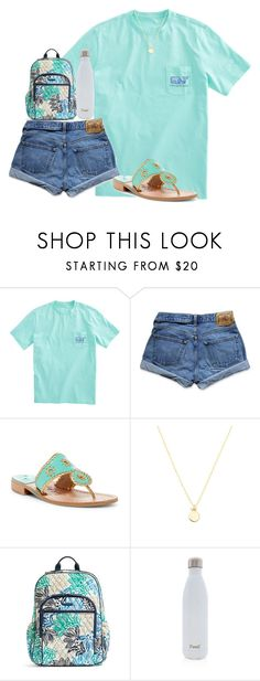 """""""teal"""" by ellienoonan ❤ liked on Polyvore featuring Abercrombie & Fitch, Jack Rogers, Sydney Evan, Vera Bradley and S'well"""