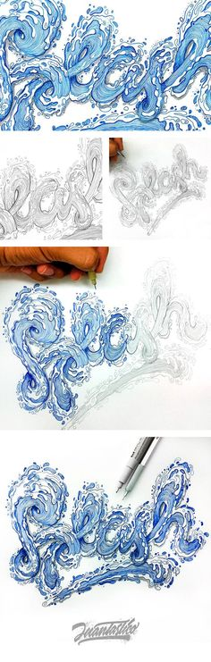 """Typography Illustrations Vol.2"" by El Juantastico."