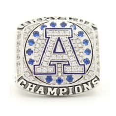 Real Handmade Platinum plated Toronto Argonauts 2004 CFL Grey Cup Championship Ring with blue synthetic sapphire and sparkling clear cubic zirconias. It is a special meaningful gift to your CFL fans friends and families. For Toronto Argonauts fan Cup Games, Canadian Football League, Grey Cup, Championship Rings, Luxury Watches For Men, Meaningful Gifts, Class Ring, Toronto, Best Gifts