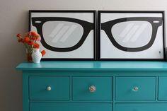 I love Elise's turquoise dresser Cozumel, Turquoise Dresser, Behr Paint, Eye Art, My Living Room, My Dream Home, Office Decor, Sweet Home, New Homes