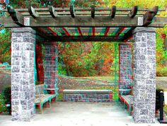 Anaglyph 3D Photos, views with Red-Cyan glasses, NYC, New York Botanical Gardens, NYBG