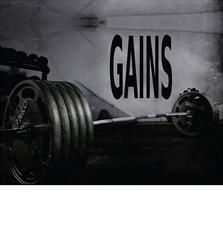 Gains wall decal measures 29 inches high by 27 inches wide. *****Store Policies****** **Shipping and Payments** -Domestic Shipping Items are...