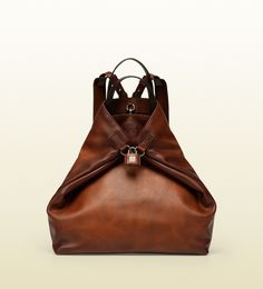 g-active dark brown leather convertible backpack