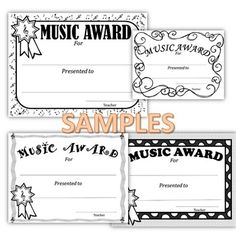 MUSIC CLASS AWARDS *TEMPLATES *EDITABLE... by SING-PLAY-CREATIVELY | Teachers Pay Teachers