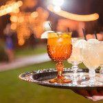 our vintage goblets for a signature wedding drink | Pretty Vintage Rentals