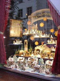 "Christmas Shop in Rothenburg ob der Tauber, Germany as called the ""Käthe Wohlfahrt Christkindlmarkt"" (Kaethe Christmas market welfare). The shop's beginnings all started with a little music box. Christmas In Germany, Christmas In Europe, German Christmas, Christmas Store, Christmas Villages, Christmas Shopping, Christmas Markets, Christmas Window Display, Christmas Scenes"