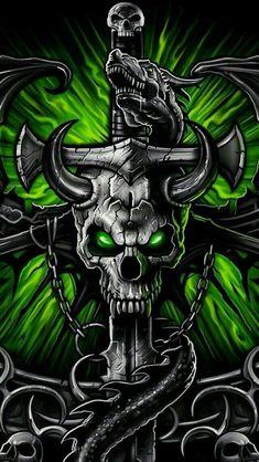 A cool skull Dark Fantasy Art, Dark Art, Dark Gothic, Gothic Art, Skull Wallpaper Iphone, Motion Images, Wolf Skull, Totenkopf Tattoos, Skull Pictures