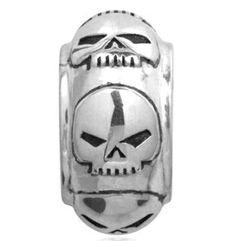 Harley-Davidson Repeating Willie G Skull Ride Bead. HDD0051