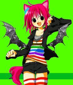 Scene Kids, Emo Scene, Old Anime, Anime Art, Emo Princess, Emo Art, Rawr Xd, Eye Strain, Cybergoth