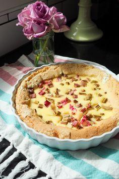 Vaniljainen raparperipiirakka - Sweet Food O´Mine