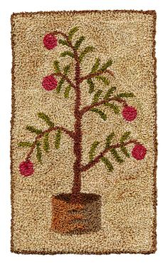 Shaker Tree - Pattern for Punch Needle Embroidery on Etsy, $13.14 CAD