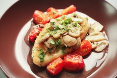 Baked Chicken With Tomatoes And Mushrooms
