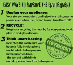 Easy Ways to Improve the Environment
