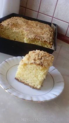 Ciasto drożdżowe bez wyrabiania Polish Desserts, Polish Recipes, Polish Food, Cake Cookies, Sugar Cookies, Cake Recipes, Sweet Tooth, Food And Drink, Cooking Recipes