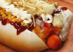 Como fazer cachorro quente para vender Homemade Sausage Recipes, Dog Recipes, Rot Dog, Tostadas, Beer Cheese Sauce, Extreme Food, Chili Dogs, Stuffed Peppers, Ethnic Recipes