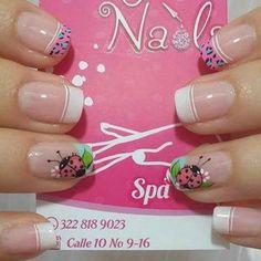 Love Nails, Fun Nails, Pretty Nails, Hello Nails, Nail Picking, Nail Tip Designs, French Tip Nails, Cute Nail Art, Beautiful Nail Designs
