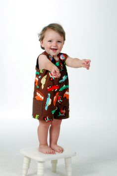"Foot Loose and Fancy Free — ""SEW HANDSOME"" Jon Jon Reversible Romper 6 Mos - 6 Child"