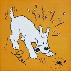 Tintin Milou Snowy Painting Tintin Comic Painting 8x8 by Cansupo