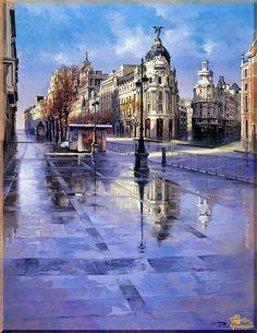 City - 276 Городской пейзах, картины, подарки