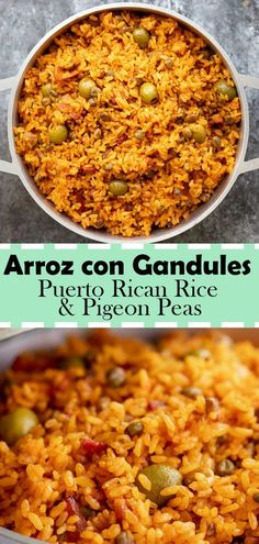 Arroz con Gandules is the best Puerto Rican rice dish that is filled with flavor. Arroz con Gandules is a traditional Puerto Rican dish that is served usually around Christmas season or special occasions. One of the main reasons why… Continue Reading → Puerto Rican Recipes Rice, Puerto Rican Cuisine, Puerto Rican Dishes, Puerto Rican Cake Recipe, Puerto Rican Chicken, Puerto Rican Spanish Rice Recipe, Puerto Rico Rice Recipe, Dominican Rice And Beans Recipe, Puerto Rican Lasagna