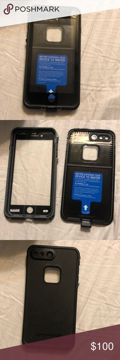 BEST OFFER TODAY Black Lifeproof for iPhone 7+/8+ Will fit iPhone 7 Plus or iPhone 8 Plus!! Make an offer because I'm really looking to get rid of it! Good condition, just look at the pictures to see! Let me know if you have any questions! I am open to offers, and I urge you to make them because if you don't make offers, then you don't know what I will take!! Thanks for shopping in my closet and feel free to look at my other items because I will give better deals on bundles!! Happy Poshing…