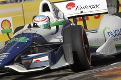 See a fast car and you immediately think it is a bloke driving it.  Think again.  Here is Simona de Silvestro, KV, Houston IndyCar 2013